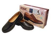 Esse Mens Plain Toe Loafers, Black Slip On Shoes - Classic