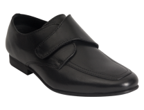 Benelaccio Boys Dress Shoes, Boys Formal Shoes, Black Velcro Shoes with Buckle (413)