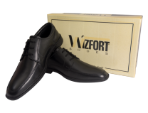 Wizfort Mens Oxford Shoes, Oxfords, Lace Up Shoes, Black Dress Shoes for Men