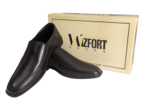 Wizfort Men Dress Shoes, Black Dress Shoes, Slip On Shoes, Black Loafers for Men