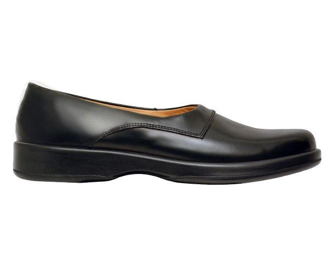 plain black slip on shoes